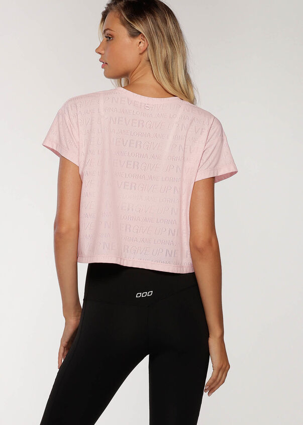 Never Give Up Mesh Tee, Pale Peony, hi-res