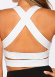Glamour Girl Sports Bra, White, hi-res