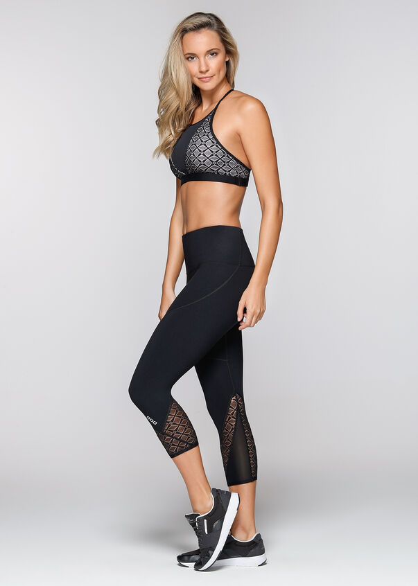 Day Dreamer Sports Bra, Black, hi-res
