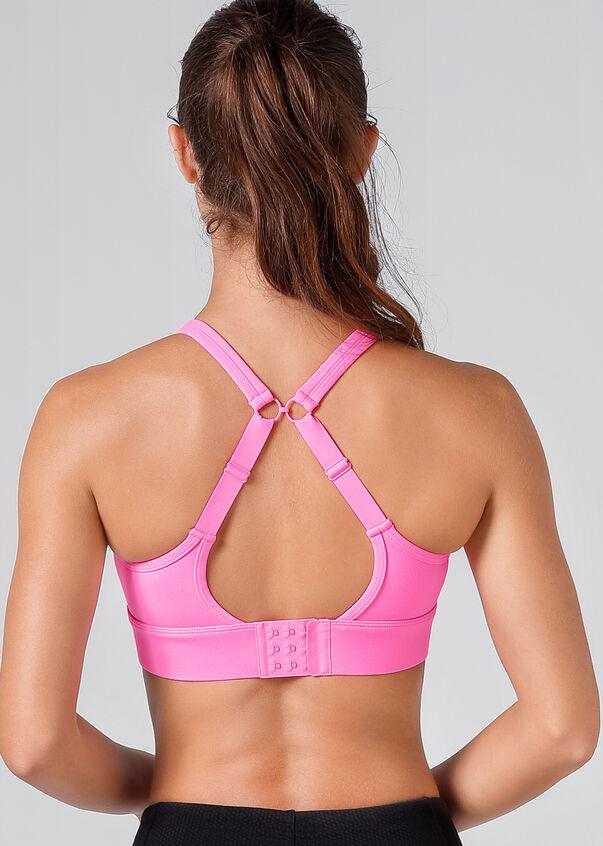 Compress & Compact Sports Bra, Hyper Pink, hi-res