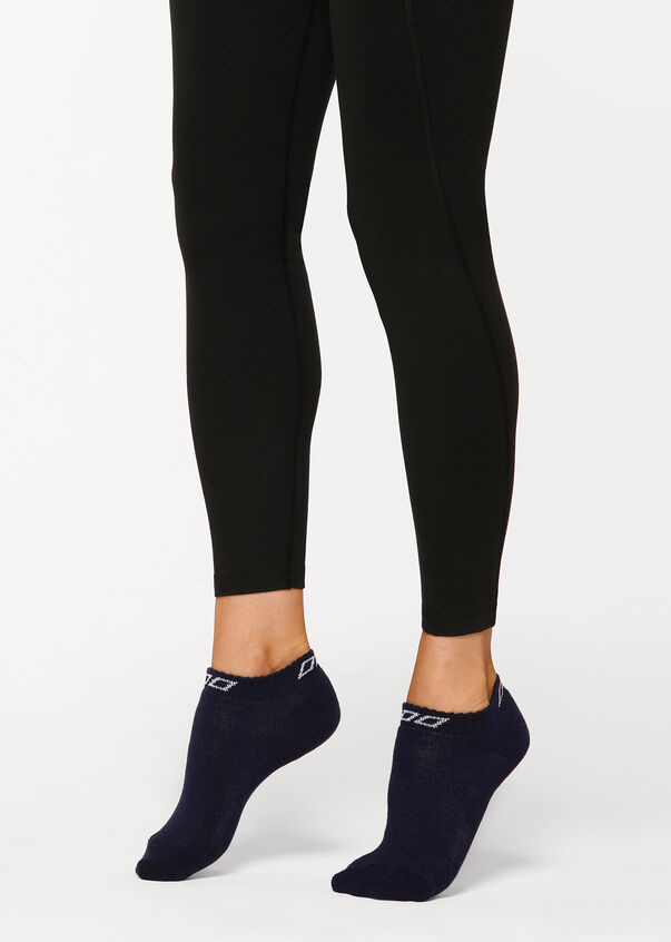 Lorna Jane Iconic Sock, French Navy/White, hi-res