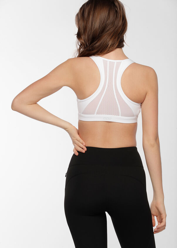 Comfort Support Sports Bra, White, hi-res