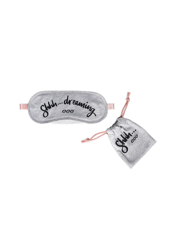 Sleepy Eye Mask, Grey Marl, hi-res