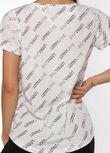 Frankie Active T-Shirt, White Perform Print, hi-res
