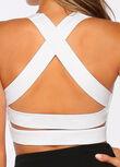 Glamour Girl Sports Bra, White, hi-res