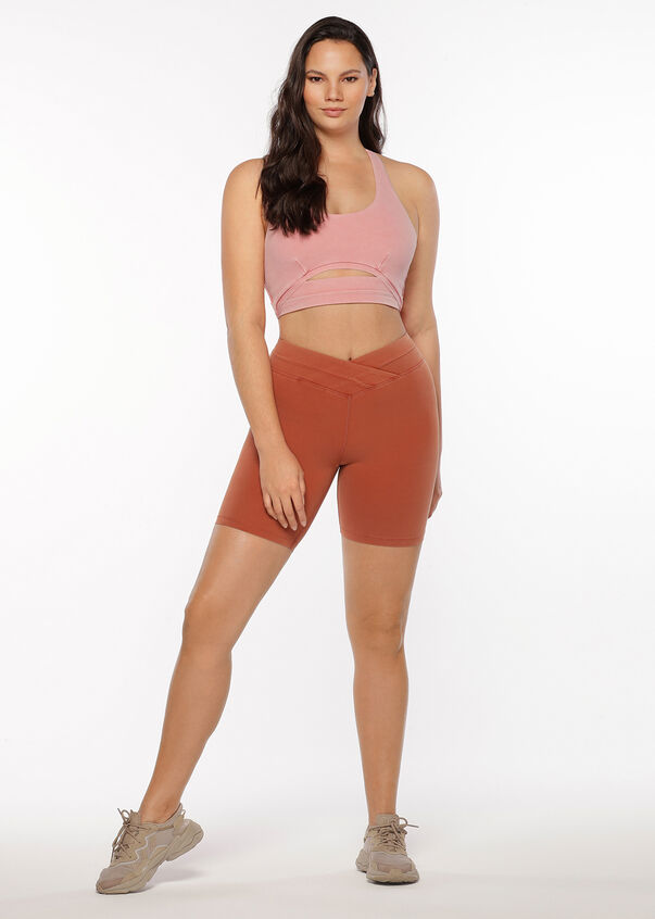 High Waisted Bike Short, Washed Copper, hi-res