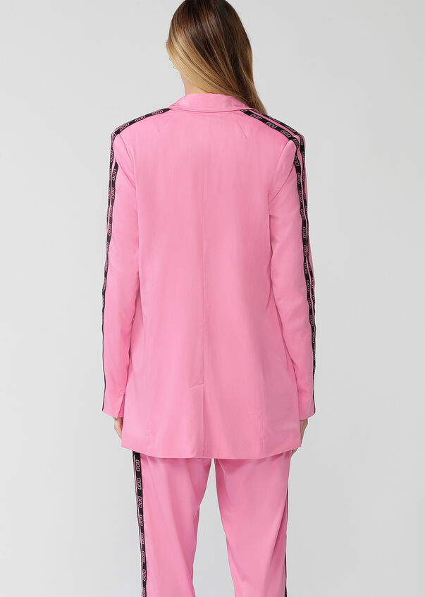 Satin Street Style Blazer, Milkshake, hi-res