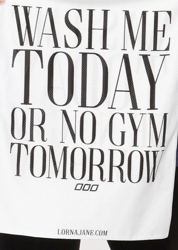Workout Wash Bag, White, hi-res