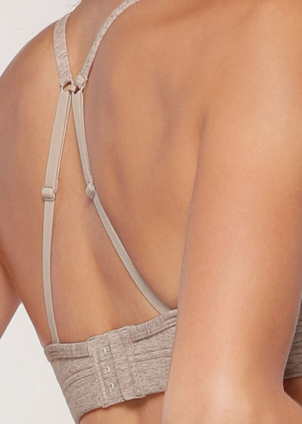 Comfy Sports Bra, Off White Marl, hi-res