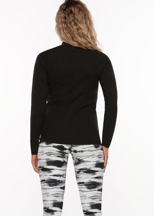 Half Zip Iconic Long Sleeve Top, Black, hi-res