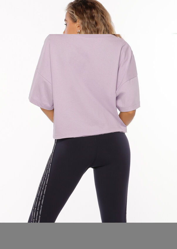 Checked Out Tee, Dusty Lilac, hi-res