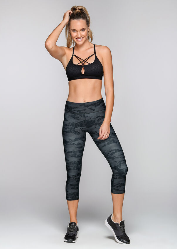 Wild Heart Sports Bra, Black, hi-res