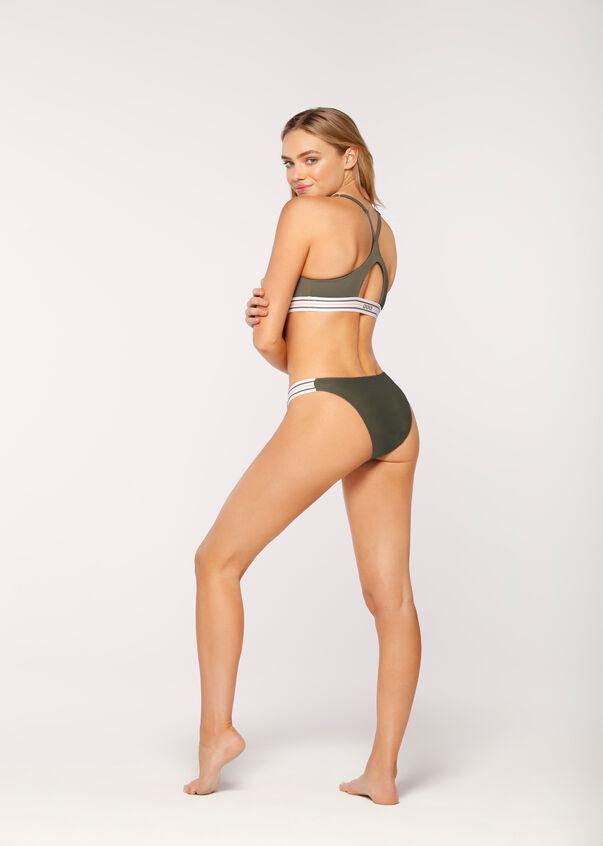 Swim Active Reversible Bikini, Dark Dusty Rose/Dark Safari, hi-res