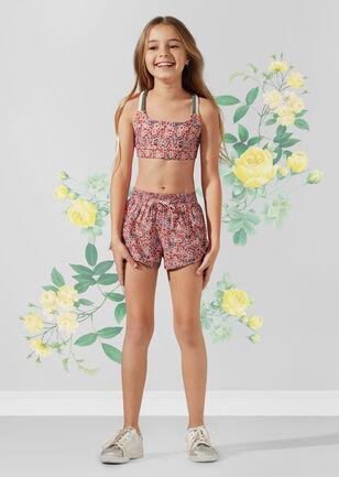 Mini Floral Sports Bra - Tween
