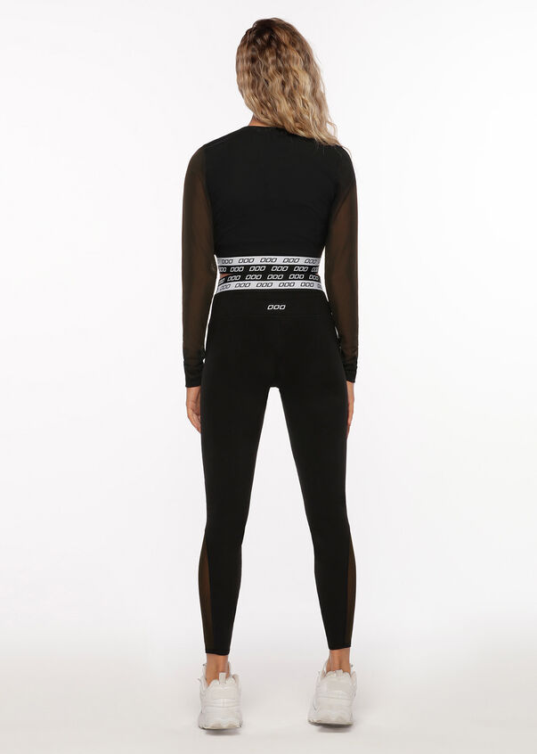 Iconic Mesh Full Length Leggings, Black, hi-res