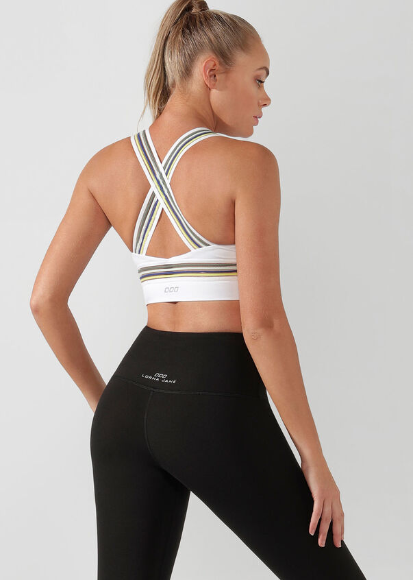 Comfort And Coverage Sports Bra, White, hi-res