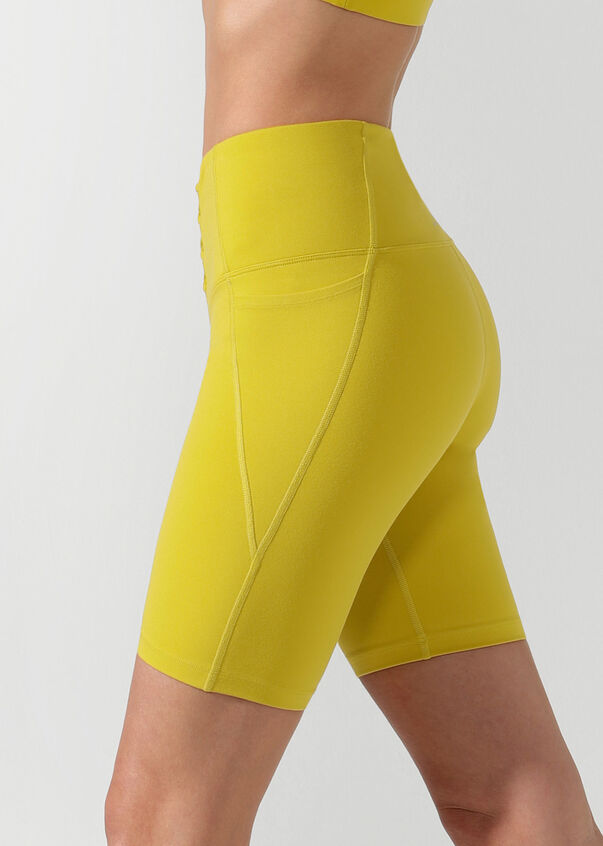 Lace Up Bike Short, Acid Yellow, hi-res