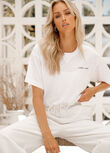 Insider Cropped Tee, White, hi-res