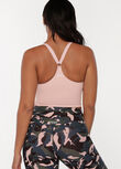 V-Back Active Tank Bra, Cherry Blossom, hi-res