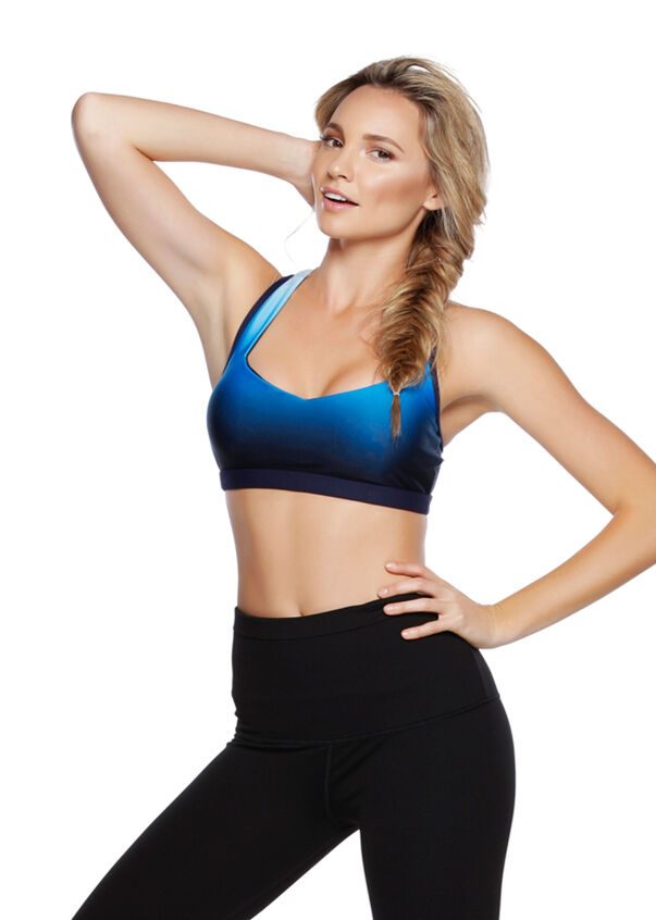 Element Sports Bra, Ink Blue Ombre, hi-res