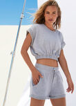 Complete Comfort Cropped Sweat, Grey Marl, hi-res
