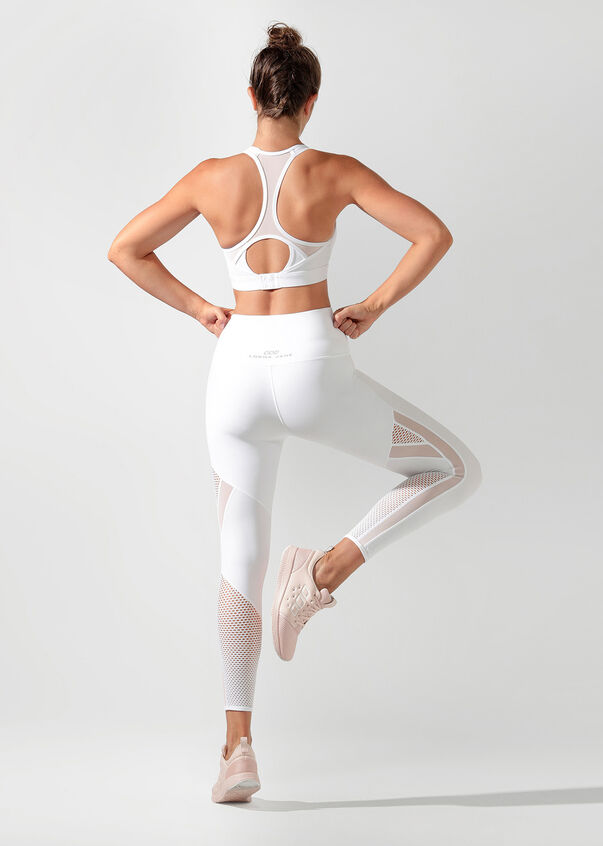 Fierce Booty Support Ankle Biter Tight, White, hi-res