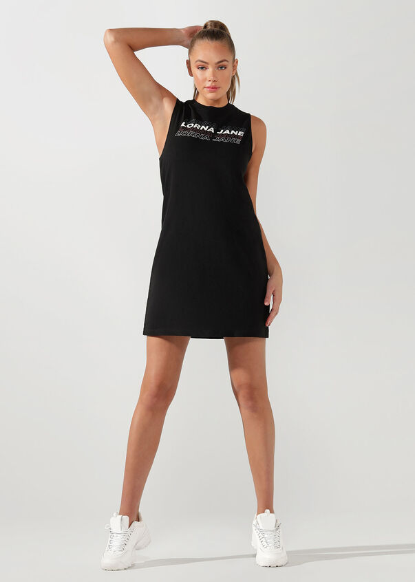 Lorna Jane Everywhere Dress, Black, hi-res