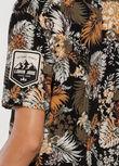 Club Leisure Camp Shirt, Retro Tropicana Print, hi-res