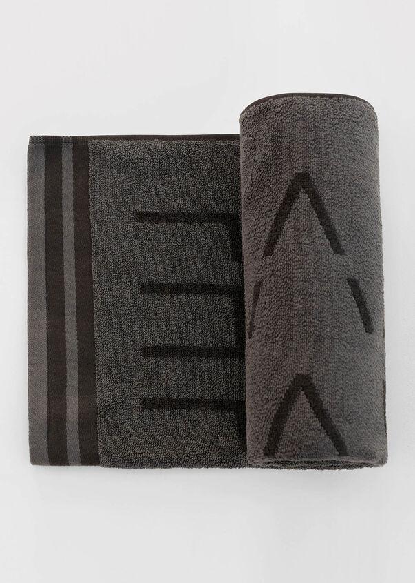 Lorna Jane Workout Towel, Titanium / Black, hi-res