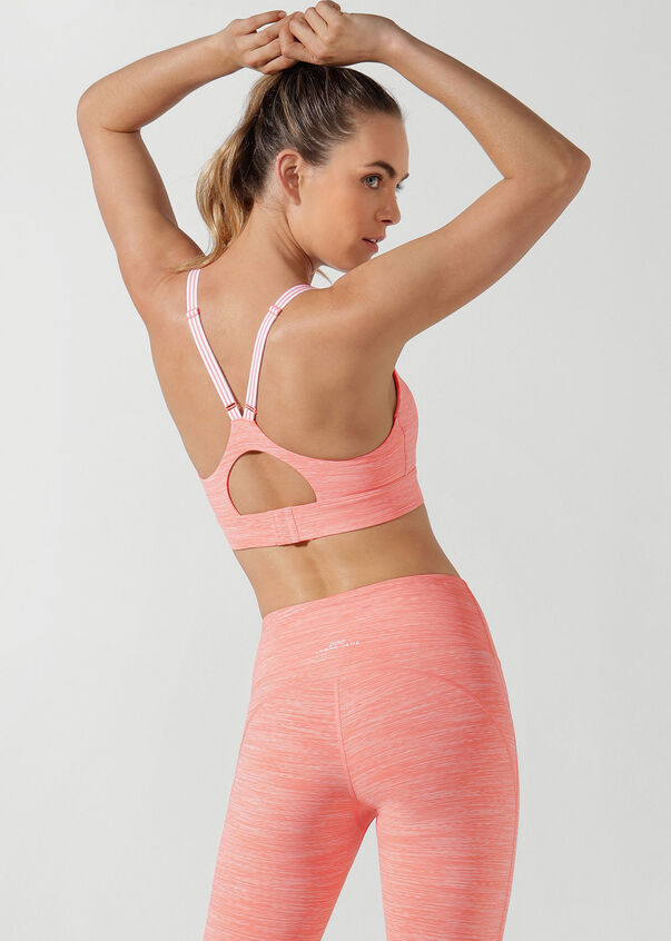 Sunset Sports Bra, Tangerine Marl, hi-res