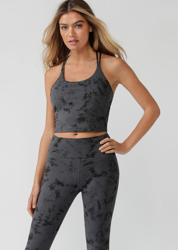 Barely There Cropped Tank, Titanium Wash Print, hi-res