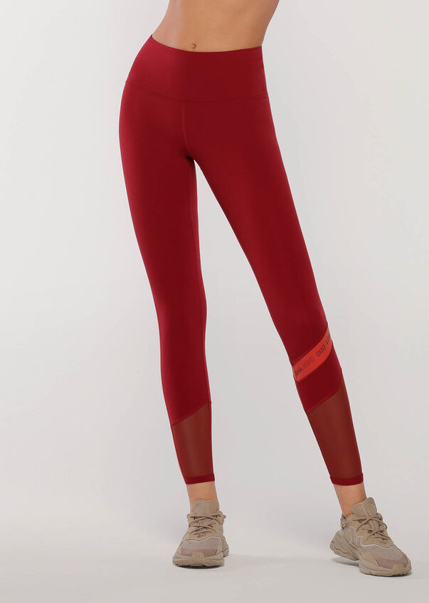 Colour Block Core Full Length Leggings, Cherry Multi, hi-res