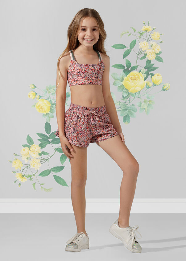 New Original Run Short -Tween, Mini Floral Print, hi-res