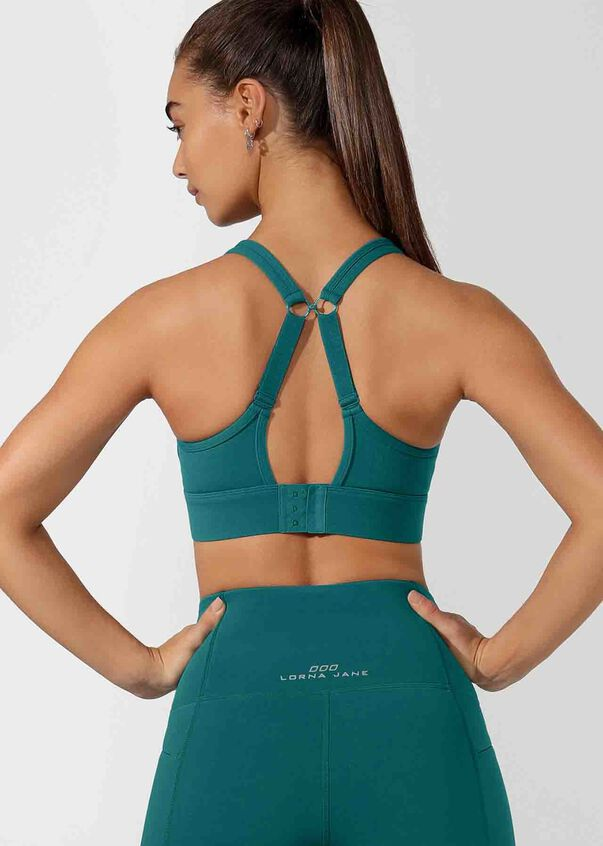 Easy Compressed Sports Bra, Amazon Green, hi-res