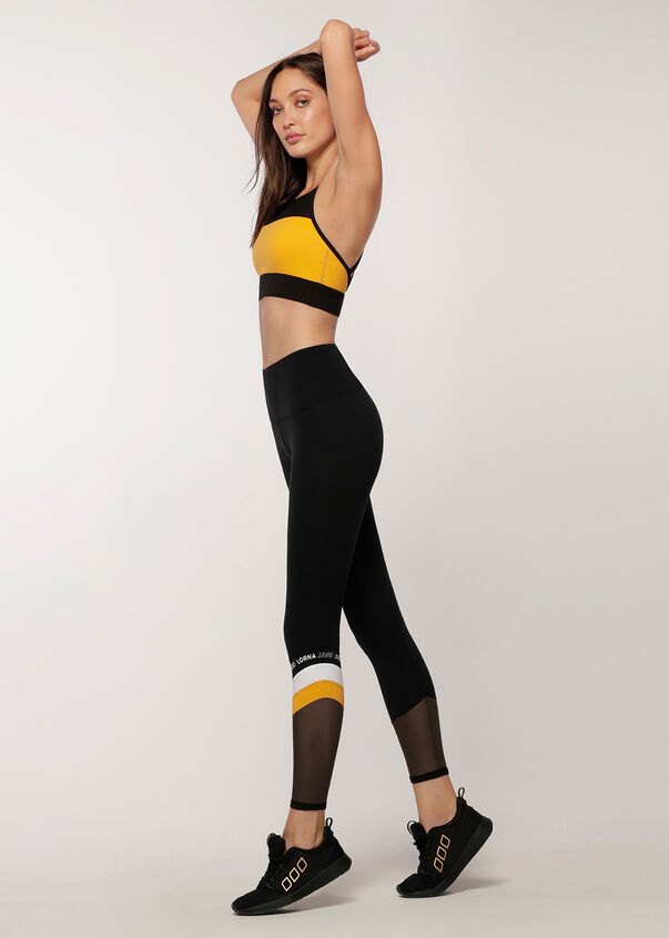Colour Block Core Full Length Leggings, Black, hi-res