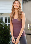 Luxe Athletic Tank, Soft Violet, hi-res