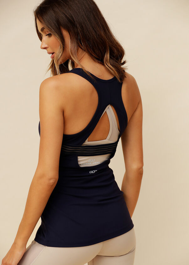 Sculpt Active Workout Tank, French Navy, hi-res