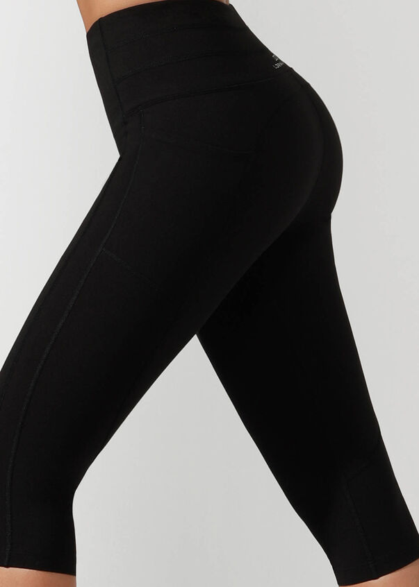 All Day Booty Support 3/4 Tight, Black, hi-res