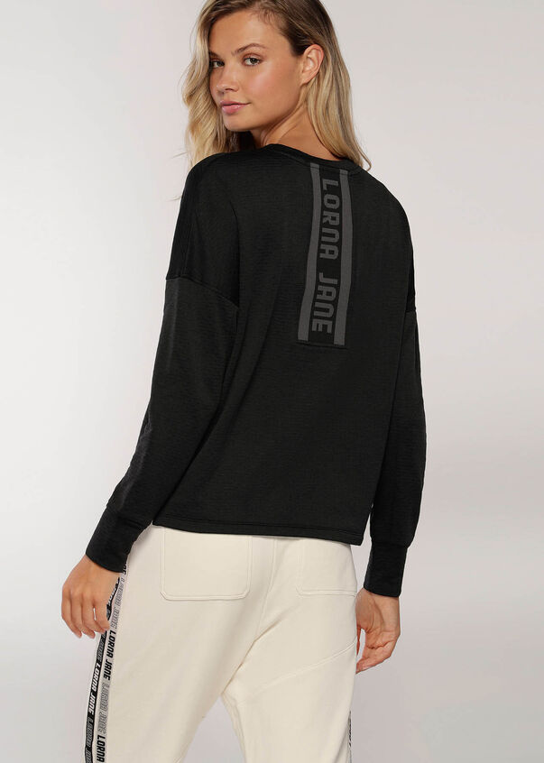 Give Me Warmth Thermal Long Sleeve Top, Black, hi-res