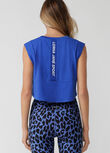 Move Easy Active Cropped Tank, Azure Blue, hi-res