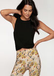 Flawless Cropped Active Tank, Black, hi-res