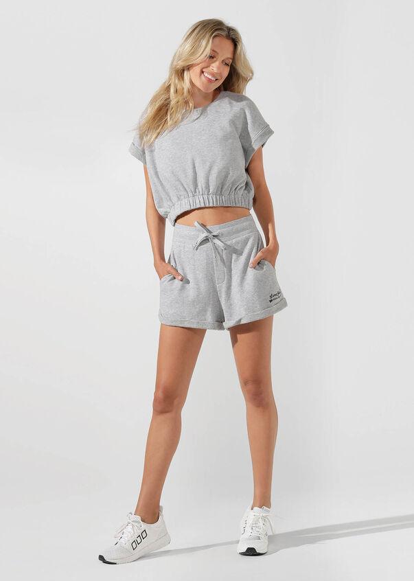 Complete Comfort Sweat Short, Grey Marl, hi-res
