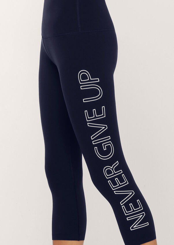 Never Give Up 7/8 Leggings, French Navy, hi-res