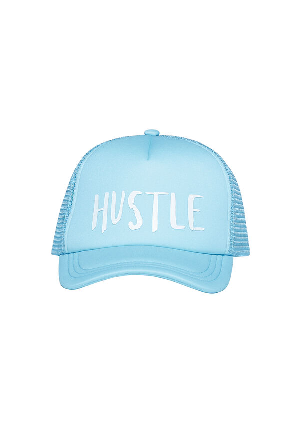 Hustle Trucker Hat, Pastel Blue, hi-res